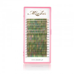 Multicolor lashes shade of green