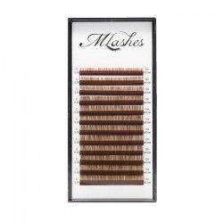 Paletka rzęs MLashes dark brown 0,05 0,07 mix
